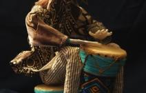 Портретная кукла - Этномузыкант. Цернит, текстиль. Высота 250 мм.
