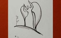 Ангел. Бумага, гелевая ручка.