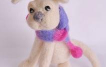 Войлочная игрушка — собачка.