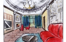 Дизайн проект гостиной. Ижевск