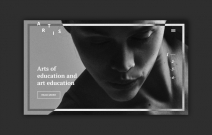 School of arts. Website concept