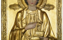 Реставрация иконы Святого В.М. целителя Пантелеймона.