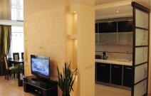 Квартира 3-комнатная. В современном минималистическом стиле. Гостиная.