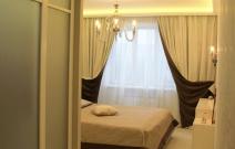 3-х комнатная. квартира в городском стиле. Спальня.