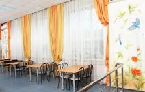 Текстильное оформление интерьера кафе.
