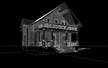 Индивидуальный деревянный дом класса эконом «Алсу», Пермь