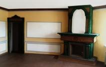 Оформление стен, изготовление камина в частном доме.