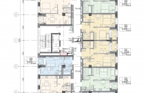 Архитектурное бюро MADE GROUP. Жилой дом «Futura» на улице Холмогорова в Ижевске. План типового этажа