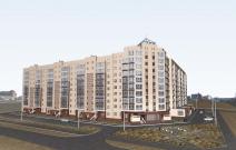 Проект многоэтажного жилого дома со встроенно-пристроенными помещениями в Новом Уренгое