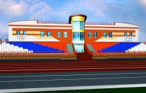 Объект № 2. Проект стадиона. п.М.Пурга.