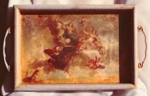 Маленький Версаль. Декоративный поднос деревянный