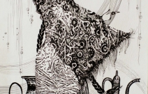 Шамаханская царица. Монотипия.