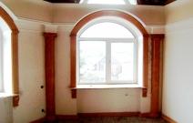 Оформление стен в частном доме.