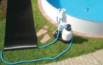 Солнечный коллектор для сборного бассейна