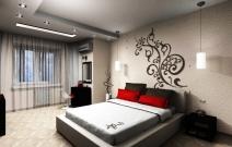 Спальня в смешанном стиле.