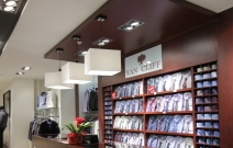 Испанские светильники Lumix для бутика «VAN CLIFF»
