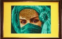 Портрет восточной красавицы.