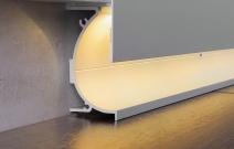 «Линия света»: профиль для светящегося плинтуса и встраиваемых светильников