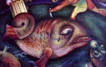 Покушение на реликтовую рыбу. Холст, масло 80X60 см. Продано/копию.
